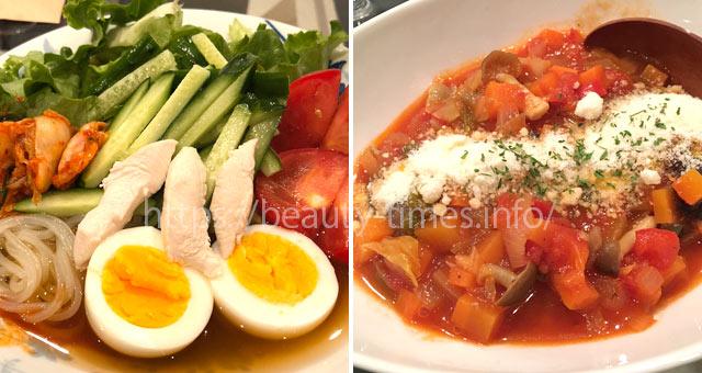 GLP-1ダイエット中の食事(サラダ冷麺)